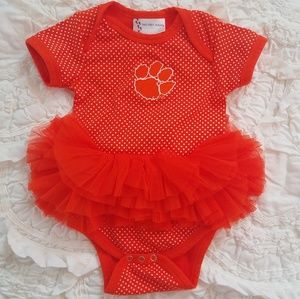 Custom Clemson tutu game day outfit
